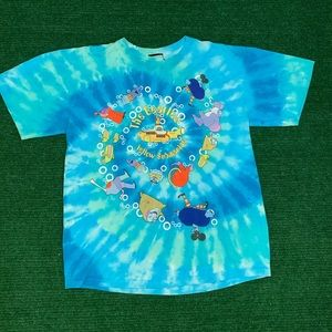 Vtg Liquid Blue Beatles Yellow Submarine tee